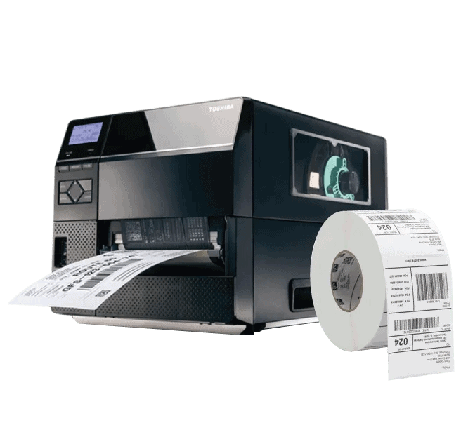 toshiba industrial barcode label printer and labels