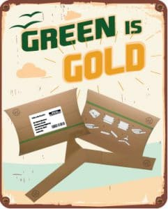 2019 label and packaging trend green is gold