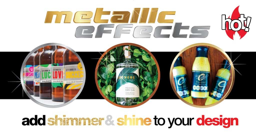 how to achieve metallic effects on your labels