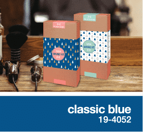 classic blue in packaging